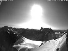 Chamonix Webcam, La vallée blanche