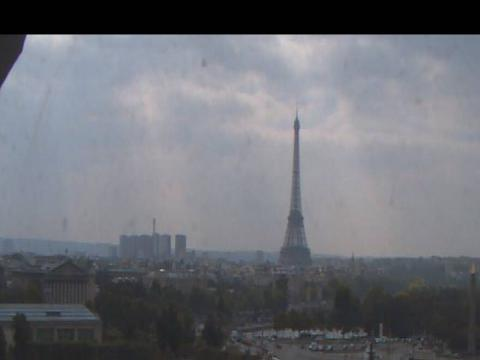 Eiffel tower panoramic view